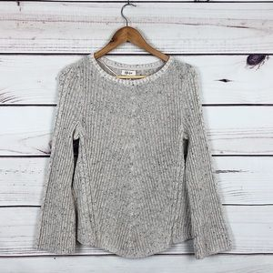 Cream cable knitted speckled chunky sweater FALL